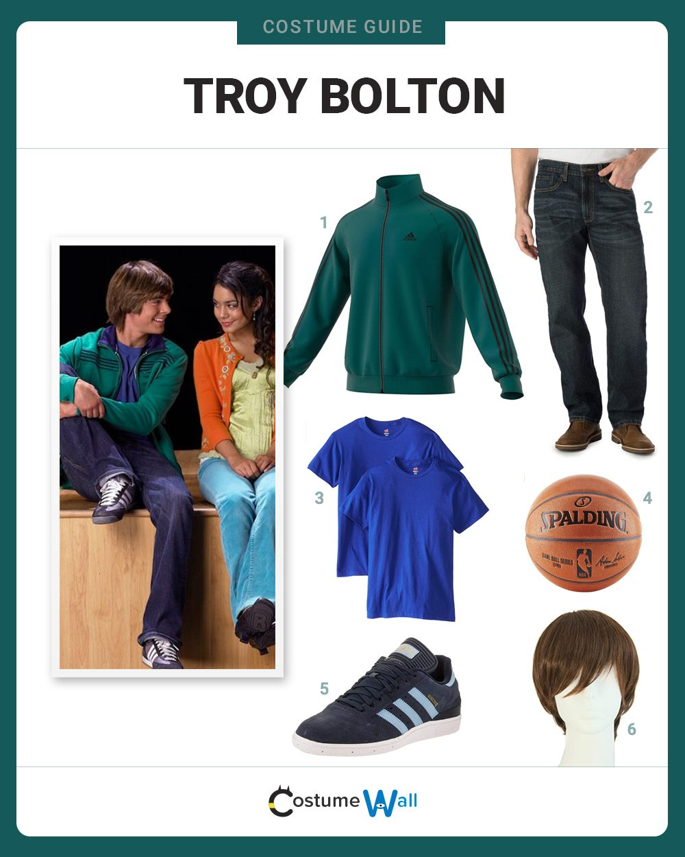 Troy Bolton Costume Guide