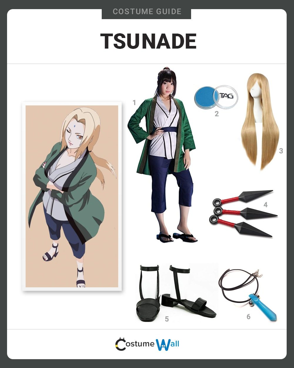 Tsunade Costume Guide