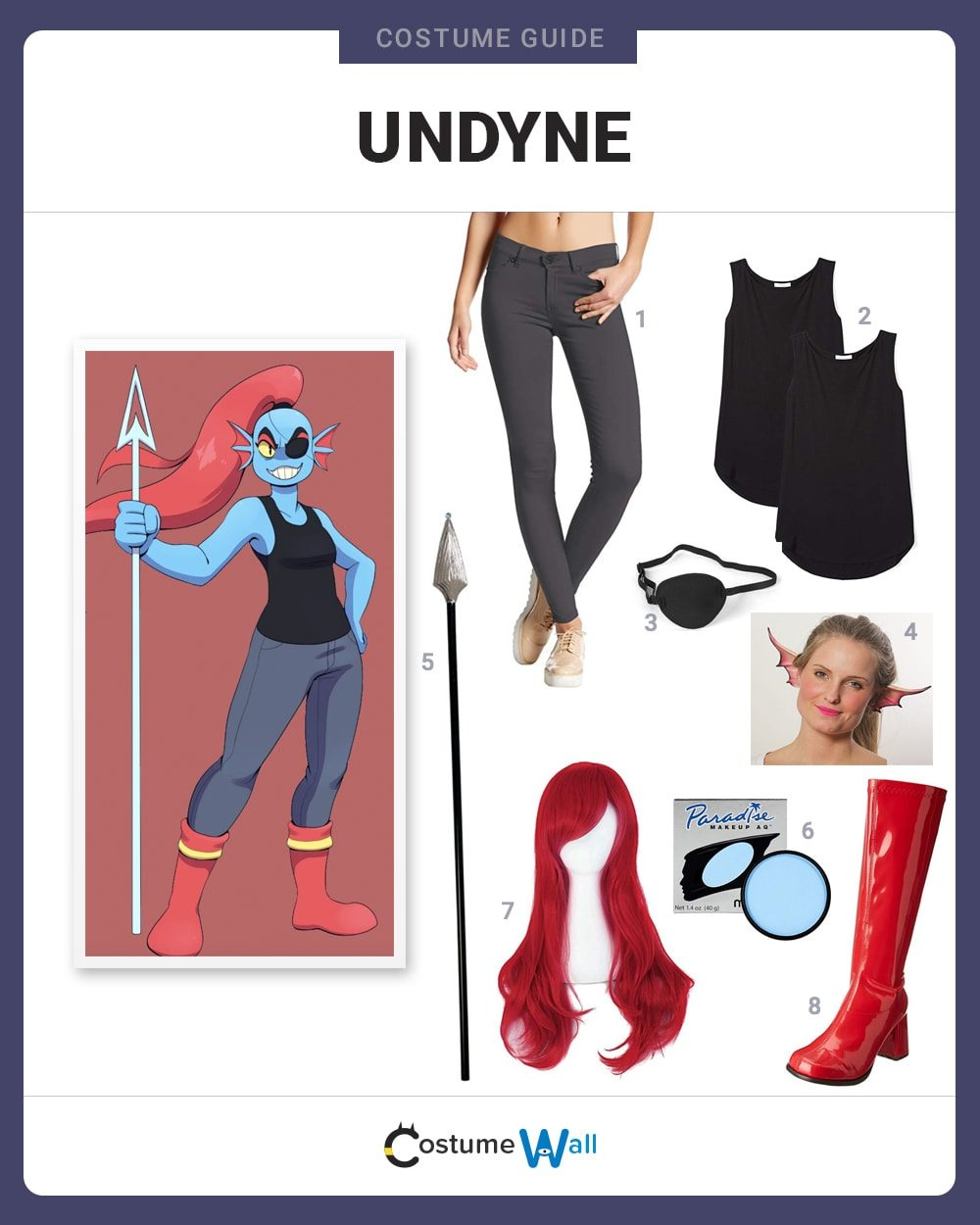 Undyne Costume Guide