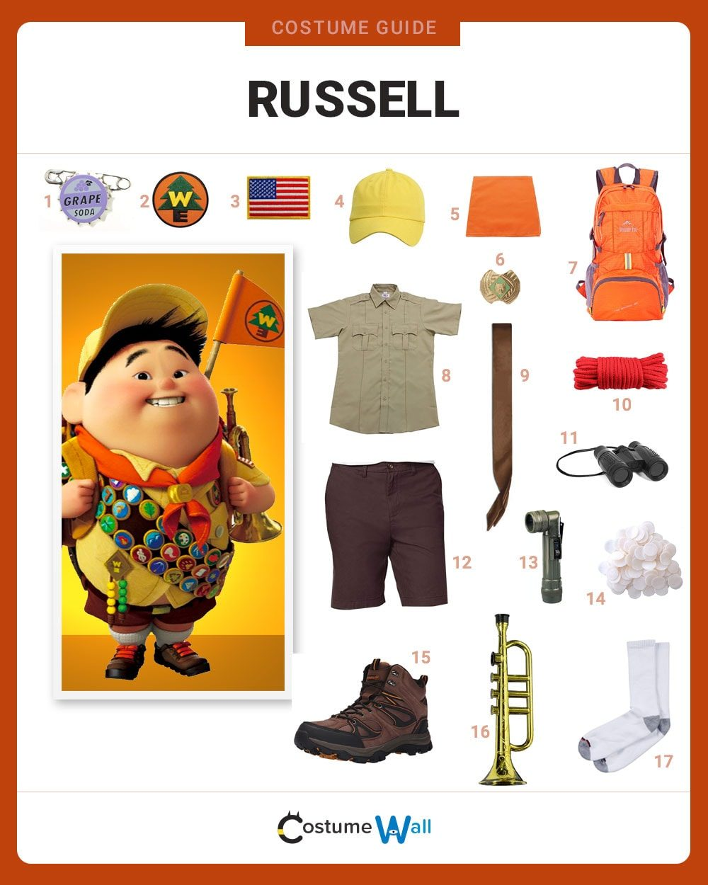 Russell Costume Guide