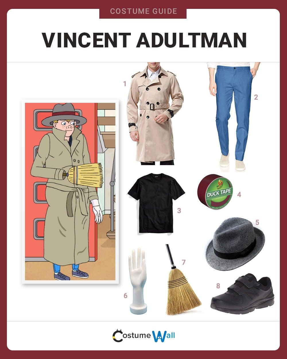 Vincent Adultman Costume Guide