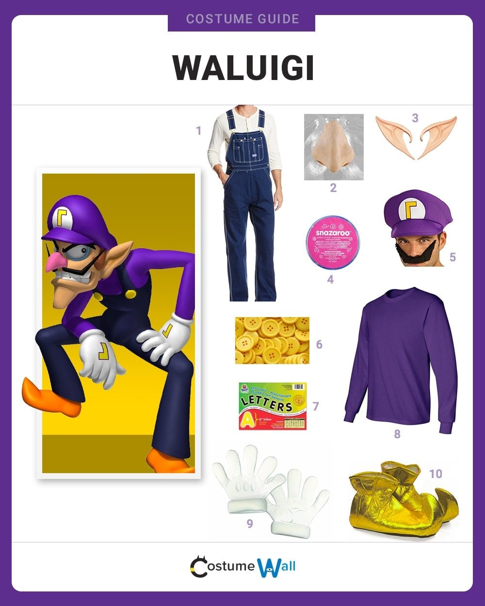 Waluigi Costume Guide