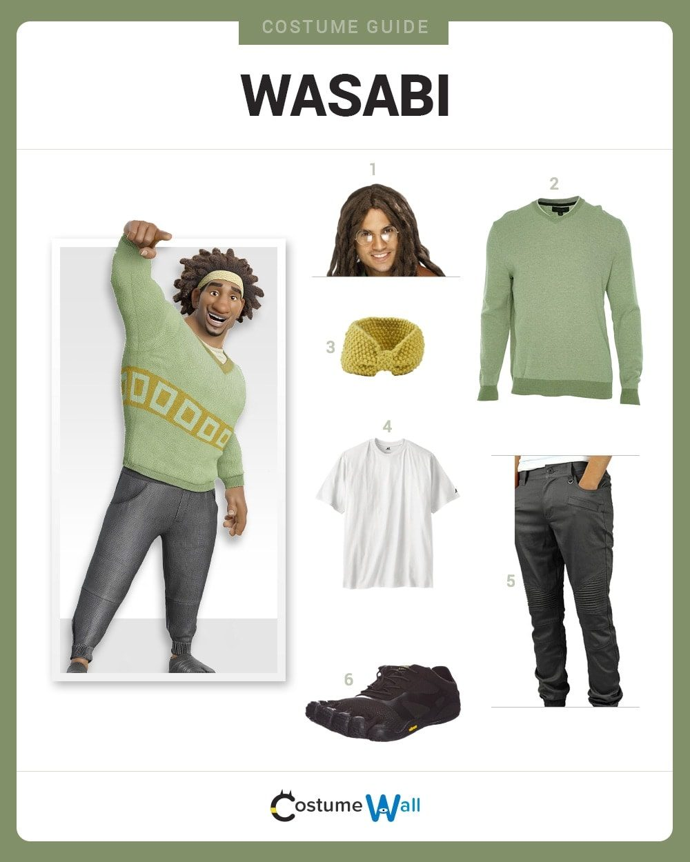 Wasabi Costume Guide