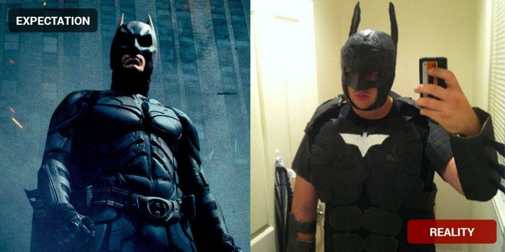Batman Costume Fail