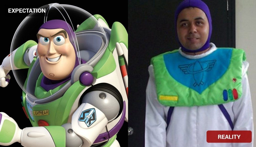 Buzz Lightyear Costume Fail
