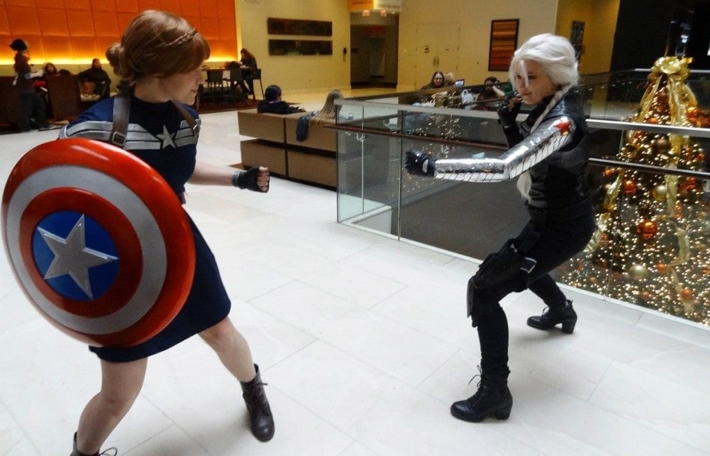 Frozen x Captain America and Winter Soldier