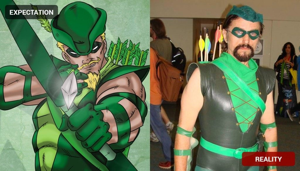 Green Arrow Costume Fail