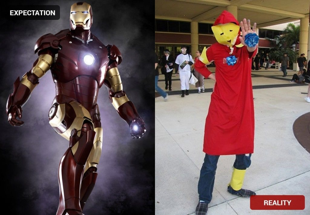 Ironman Costume Fail & Halloween Costumes: Expectation vs. Reality | Costume Wall