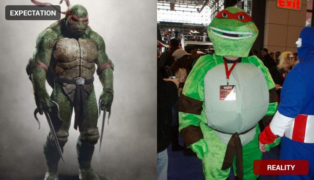 Ninja Turtle Costume Fail