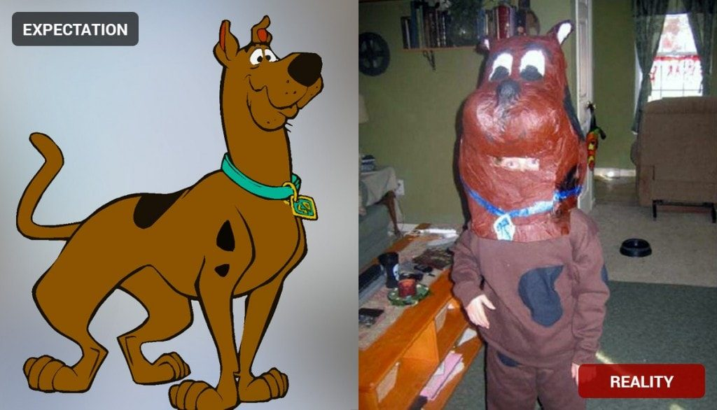 Scooby Doo Costume Fail