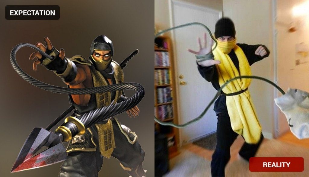 Scorpion Costume Fail