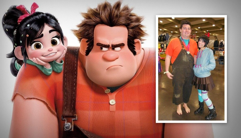 Wreck-It-Ralph and Vanellope von Schweetz