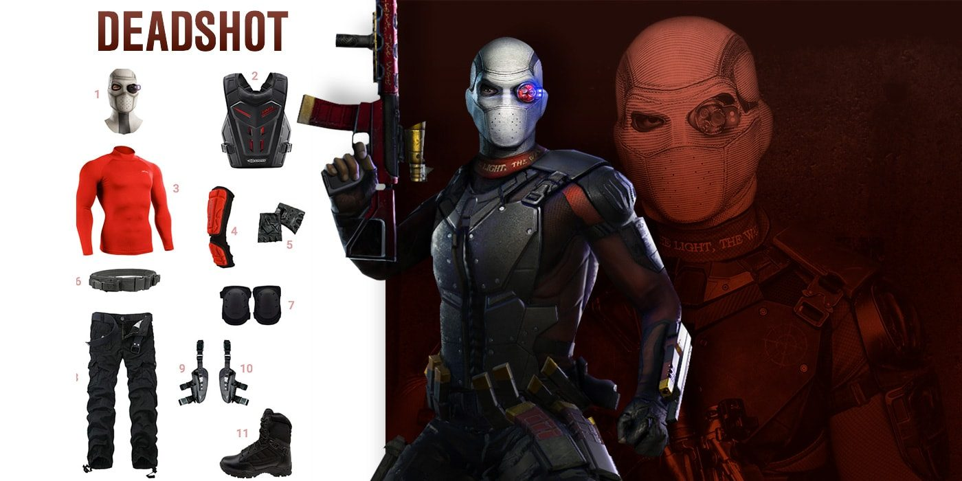 dress like deadshot costume halloween and cosplay guides