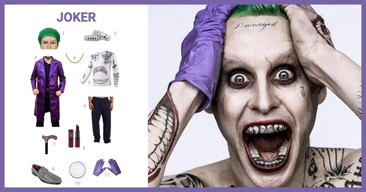 Dress Like Joker Suicide Squad Costume Halloween And