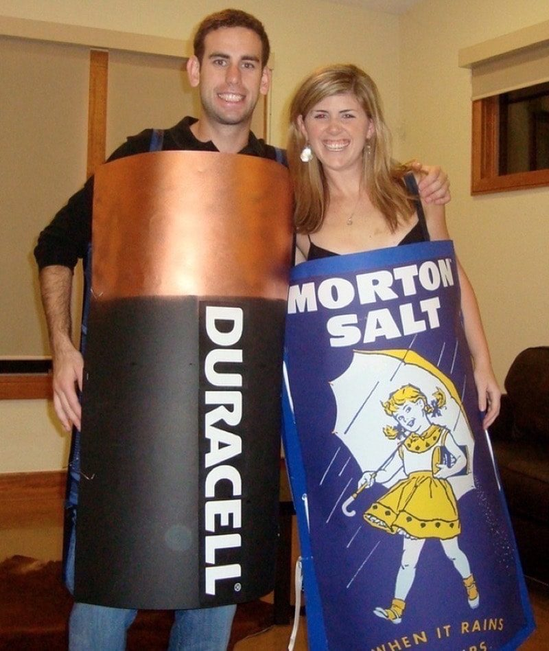 Assault and Battery Punny Halloween Costume