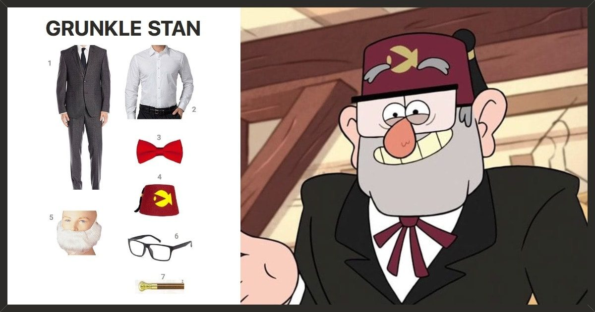 grunkle stan costume share