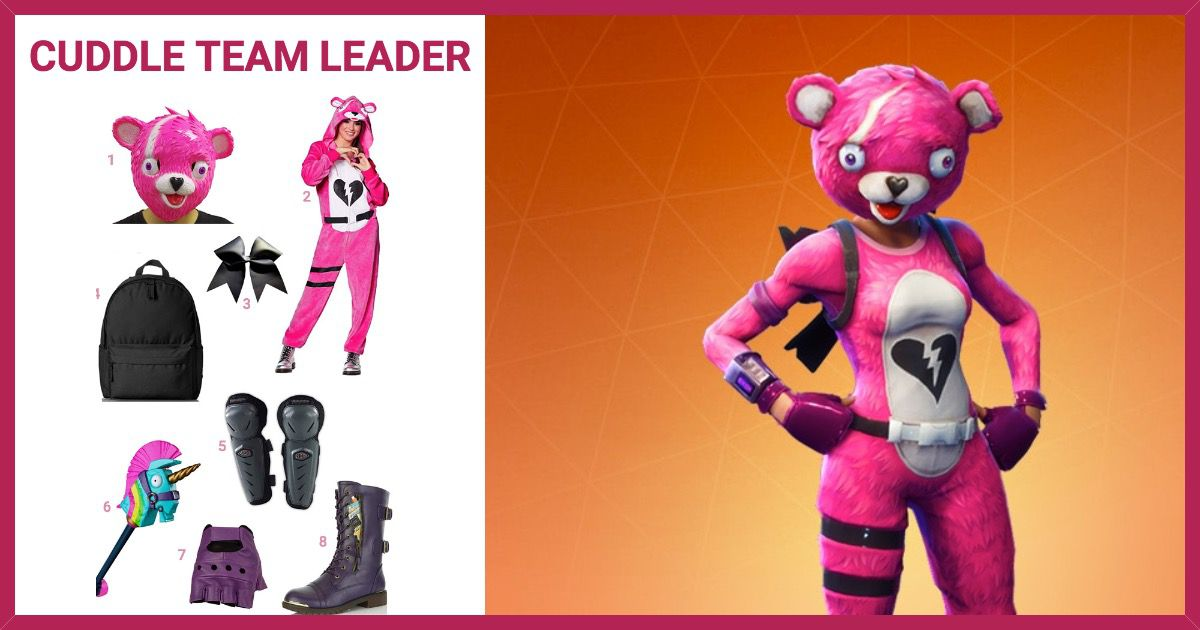 dress like cuddle team leader from fortnite costume halloween and