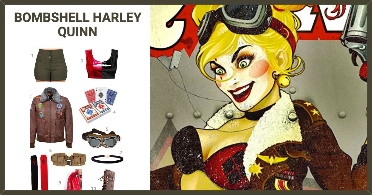 966fe597be739c Dress Like Bombshell Harley Quinn Costume