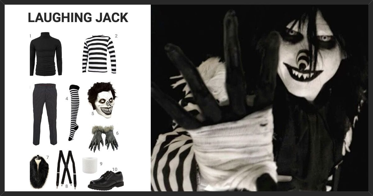 dress like laughing jack costume halloween and cosplay